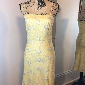 J. CREW Yellow Floral Cotton Sundress